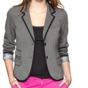 Gap The Academy Piped Blazer Heather Gray